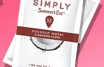 FREE Summers' Eve Simply Coconut Water Cloth Sample