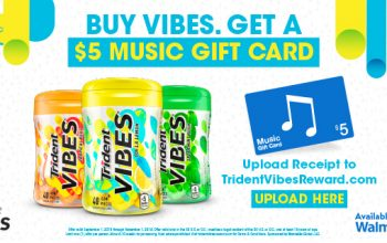 Trident VIBES® Rebate: Get a $5 iTunes Gift Card (Ends 11/1)
