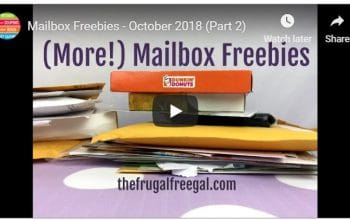 YouTube Video: Mailbox Freebies (October 2018) Part 2