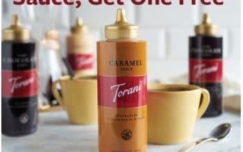 Buy One Torani Sauce, Get One FREE at Walmart and Meijer
