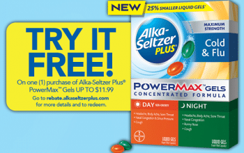 FREE Alka-Seltzer Plus after Rebate ($11.99 value)