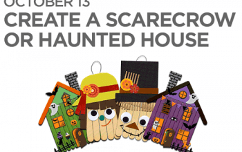 FREE Scarecrow or Haunted House Craft at JCPenney on 10/13