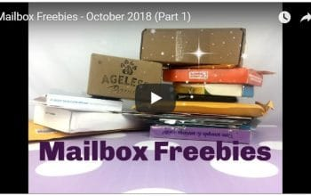 YouTube Video: Mailbox Freebies (October 2018) Part 1