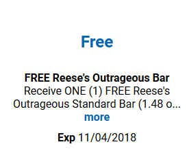 FREE Reese's Outrageous Bar for Kroger (and affiliate) Shoppers!
