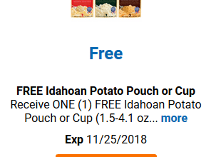 FREE Idahoan Potatoes for Kroger (and affiliate) Shoppers!