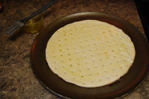 Olive Oil on Crust
