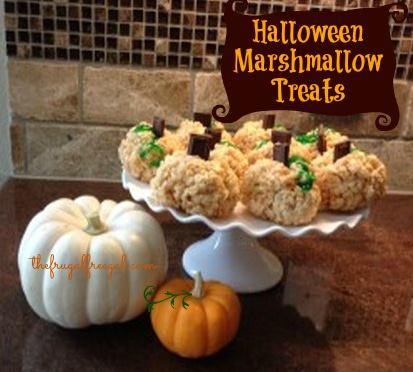 Halloween Marshmallow Treats Recipe