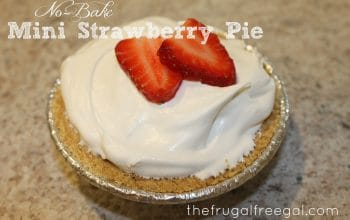 No-Bake Mini Strawberry Pie Recipe