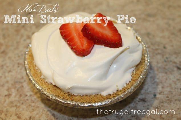 No-Bake Mini Strawberry Pie Recipes