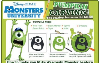 FREE Monsters University Halloween Printables!