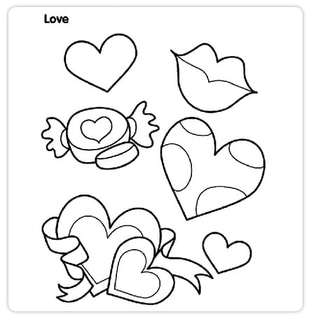 picture relating to Crayola Printable Coloring Pages identified as Cost-free Valentines Working day Printable Coloring Webpages in opposition to Crayola