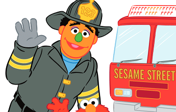 FREE Sesame Street Fire Safety Coloring Book!
