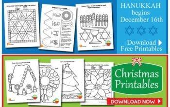 FREE Printable Christmas & Hanukkah Activity Sheets!