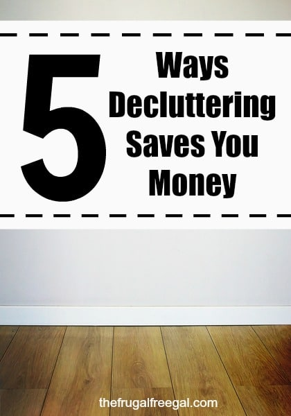 decluttering saves money