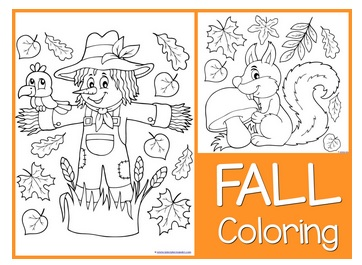 free fall coloring sheets