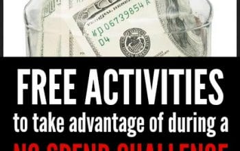 FREE Activities to Take Advantage of During a No Spend Challenge