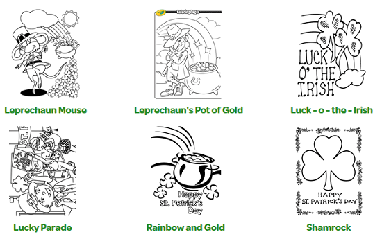 St Patricks Coloring Sheets Free