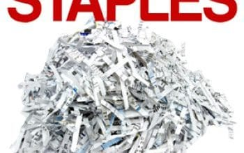 FREE Shredding Services at Staples (up to 2lb)
