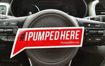 FREE #IPumpedHere Sticker
