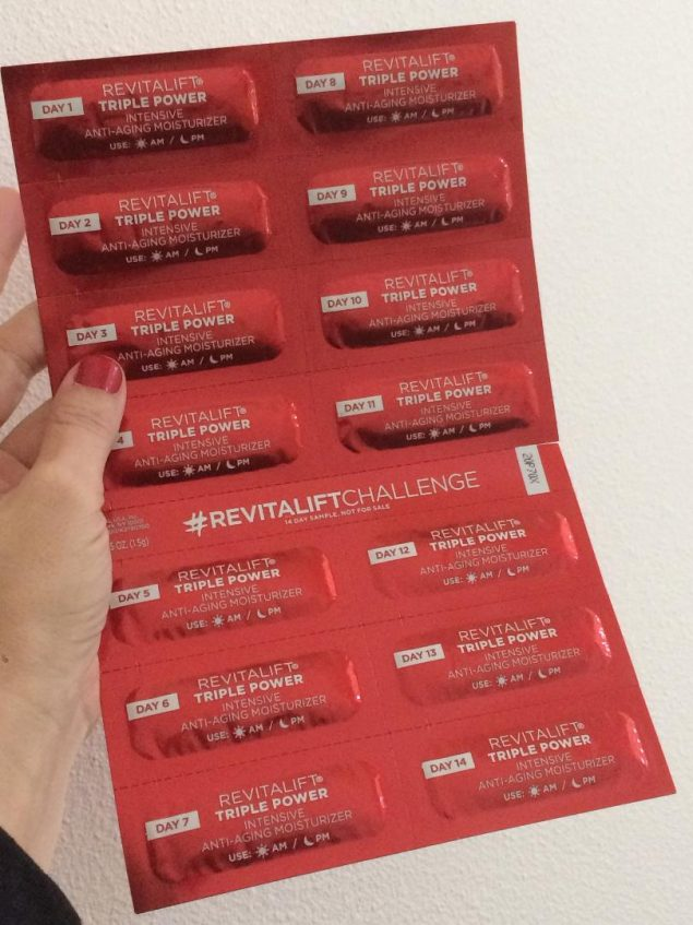 14 day free sample of revitalift from l'oréal paris freebie life.