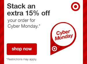 Target.com: Stack an Extra 15% off your order on Monday ONLY