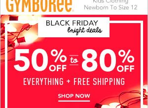 Cyber Monday – Up to 80% Off Everything at Gymboree + an Extra $25 Off $100 & Free Shipping!