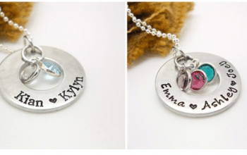Personalized Hand Stamped Family Necklace – Was $30.00 – Now $13.99 + Free Shipping!