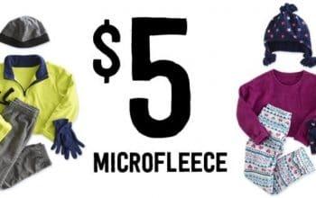 Crazy 8: $5 Microfleece Sale + Free Shipping!
