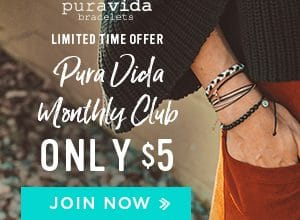 Join the Pura Vida Club for Only $5 and Get Gorgeous Bracelets!  (Ends 12/10)