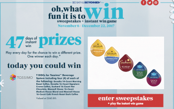 Bed, Bath & Beyond Sweepstakes + Instant Win Game (Ends 12/22)