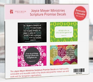 FREE Joyce Meyer Scripture Promise Decals (religious