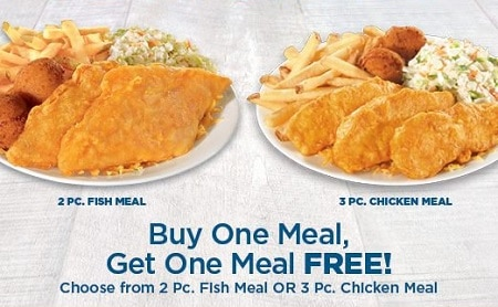 graphic regarding Long John Silver's Printable Coupons referred to as B1G1 Free of charge Evening meal at Extended John Silvers - Freebies and Free of charge