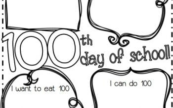 FREE 100th Day of School Printable
