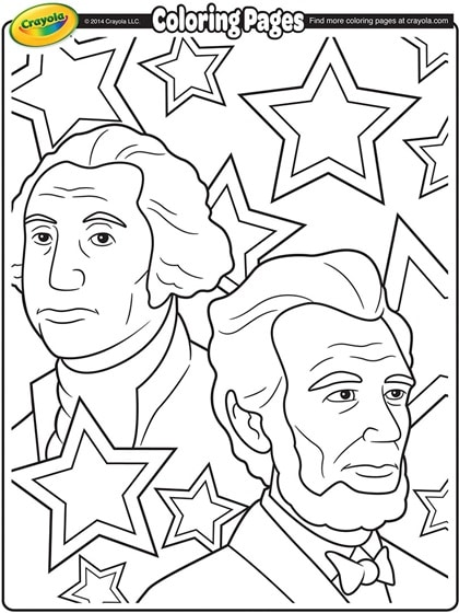 FREE Presidents' Day Printable Coloring Pages