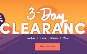 3-Day Clearance Sale at Wayfair (+ 10% off for New Customers!)