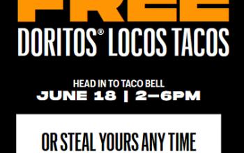 FREE Doritos Locos Taco at Taco Bell TODAY (no purchase needed)