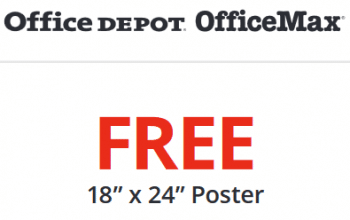 FREE 18×24? Poster at Office Depot/OfficeMax