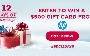 #SDC12DAYS of Giveaways – Day 11: $500 HP Gift Card
