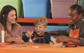 Home Depot Kids Workshop: FREE DIY Wooden Sled with Reindeer (December 1st)