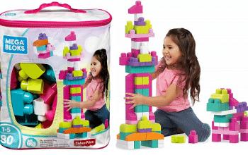 80-piece Pink Mega Bloks Building Bag Only $7.49 Shipped!