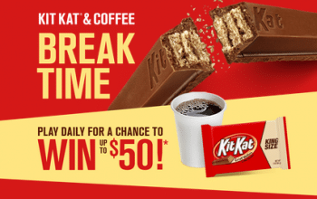 KitKat Coffee Break Time Instant Win Game – Enter Daily! (Ends 12/31)