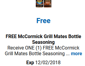 FREE McCormick Seasoning for Kroger (and affiliate) Shoppers!