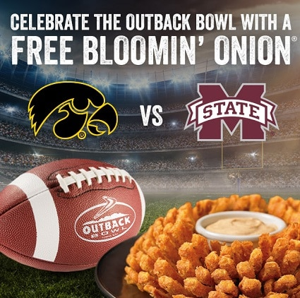 free bloomin onion outback today