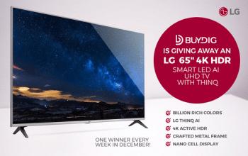 BuyDig 65″ LG TV Giveaway (ends 12/31)