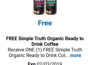 FREE Simple Truth Organic Coffee for Kroger (and affiliate) Shoppers!