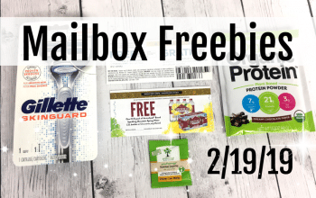 YouTube Video: Mailbox Freebies in Five Minutes (2/19/19)
