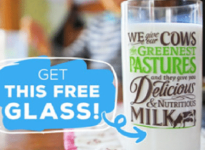 FREE Drinking Glass with $4 Milk Purchase