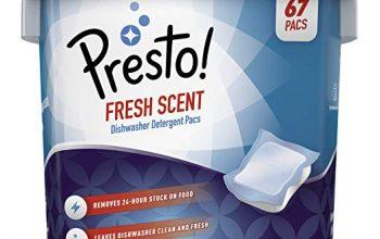 Save on Amazon Brand Presto! Premium Dishwasher Detergent Pacs – 67 count