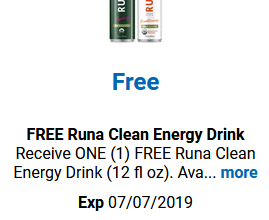 FREE Runa Clean Energy Drink for Kroger (and affiliate) Shoppers!