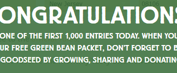 FREE Organic Green Bean Seeds
